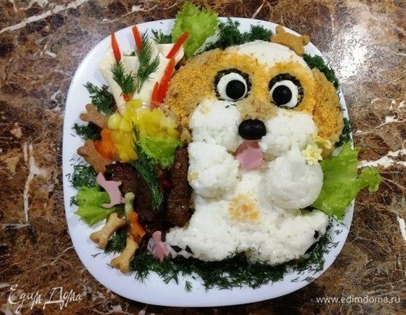 Завтрак для любимого сына «Собачка»