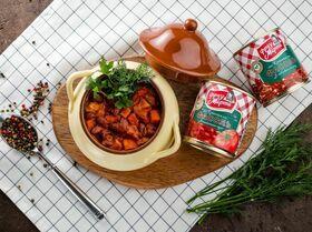 Рагу с курицей и красной фасолью