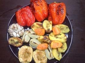 Посиделки с печеным мясом и овощами