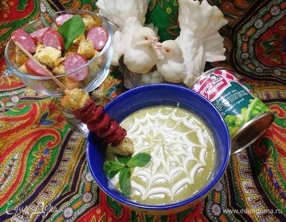 Нежный гороховый суп с семенами фенхеля