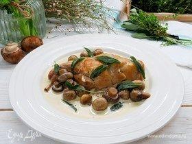 Кролик в сливочно-винном соусе с букетом гарни