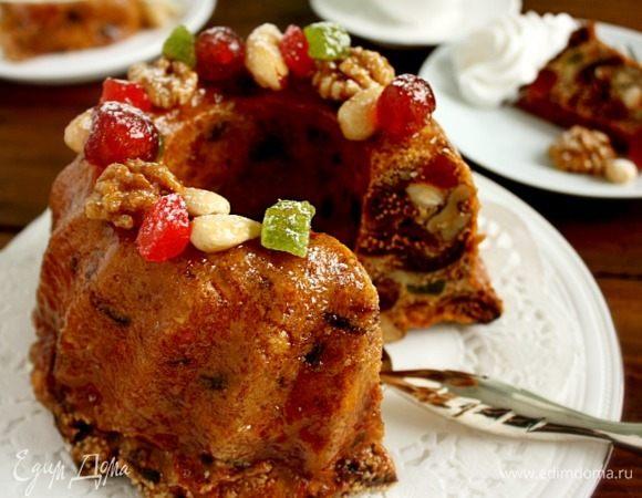 Фруктово-ореховый кольцевой пирог