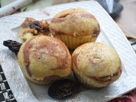 Паровые кексы с черносливом