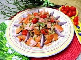 Салат «Две фасоли» к рыбе