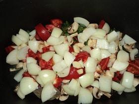 Баранья нога, запеченная в овощной «шубе»