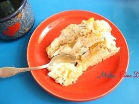 Персиковый торт с творожным сыром