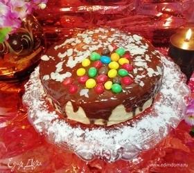 Бисквитный торт с арахисовым кремом
