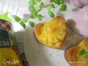 Порционный пирог-перевертыш с ананасом и корицей