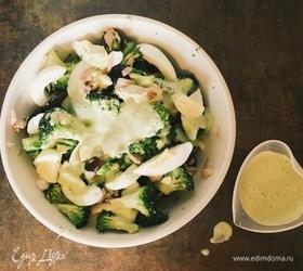 Салат с брокколи и тунцом