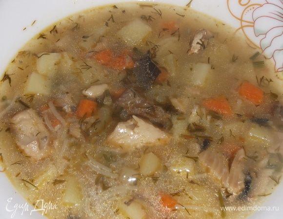 Суп рыбный с вермишелью