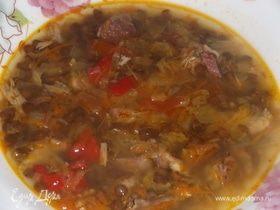 Овощной суп из чечевицы
