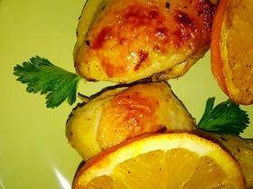 Курица с апельсинами, запеченная в духовке