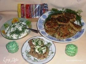 Оладьи из кабачков с кашей и орехами