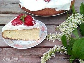 Торт королевы Виктории с клубникой
