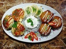 Картофельные пончики с куриными кексами