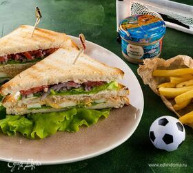 Клаб-сэндвич с лососевым паштетом