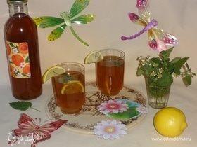 Холодный зеленый чай с ромашкой и мелиссой