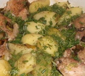 Картофель с курицей «Томленый-духовой»