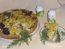 Пирог с овощами и куриной грудкой