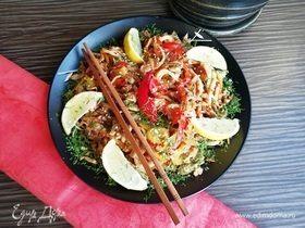 Кальмары со свининой и овощами по-китайски