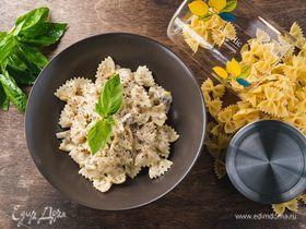 Фарфалле с грибами и сливочным соусом