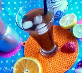 Холодный кофе с апельсином