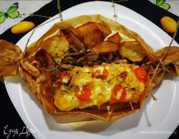 Конвертики со свининой и картофелем