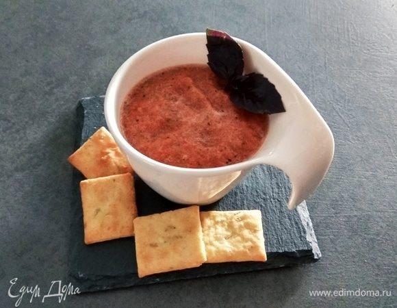 Томатно-базиликовый смузи с чесноком