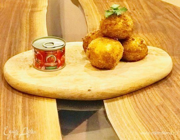 Аранчини с фаршем и томатной пастой