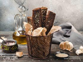 Гренки из бородинского хлеба с чесноком