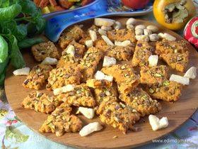 Печенье с пармезаном и фисташками