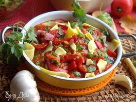 Теплые овощи с сыром «Листопад»
