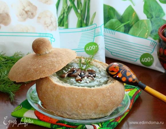 Овощной суп-пюре в хлебе