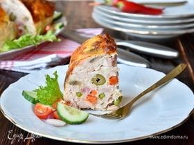Цыпленок, фаршированный овощами