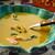 Тыквенный суп с рыбой и креветками