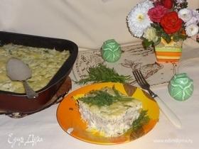 Запеканка из цветной капусты с фаршем и брынзой