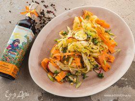 Овощной салат с облепиховым маслом