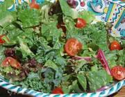 Зеленый салат с орехами и горчичной заправкой