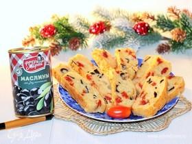 Кекс с маслинами и пармезаном