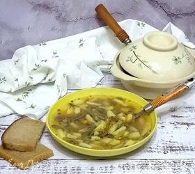 Грибной суп с пастой орзо