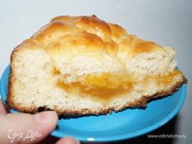 Пирог с персиковым джемом