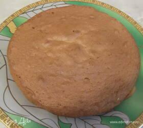 Воздушный апельсиновый бисквит с кремом