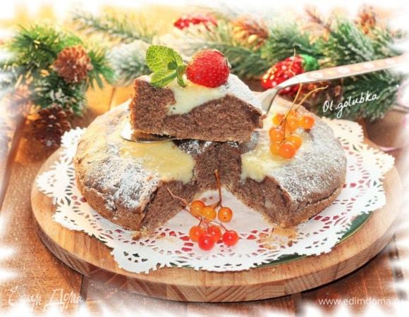 Шоколадный пирог с заварным кремом