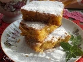 Овсяно-морковный пирог «Заснеженное утро»