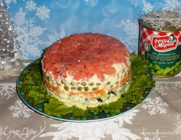 Слоеный салат «Красная шапочка»