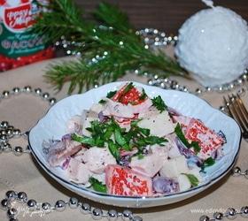 Салат с грушами и копченой грудкой