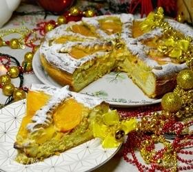 Солнечный пирог с хурмой