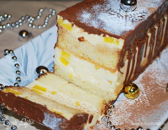 Десерт «Персики в сливочном суфле»