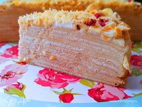 Блинный торт с кремом «Пломбир»