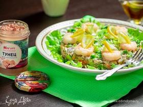 Салат с тунцом и домашним майонезом